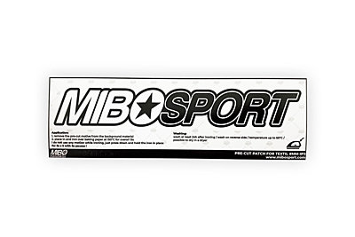 MIBOSPORT Pre-Cut Iron-On Large Patch for Textil by MM