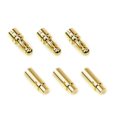 Muchmore Brushless Motor Connector set Male 3pcs & Female 3pcs (3.5mm)