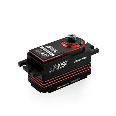 Power HD S15 Red Low Profile (0.06s/15.0kg/7.4V) Brushless Servo