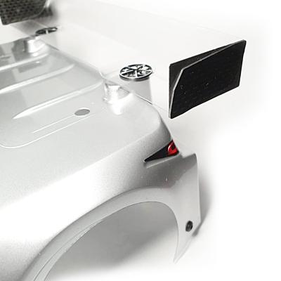 RC Maker Body Anti-Tuck Wing Mounting Set Lite V2 (Black) for Mon-tech Racer 2
