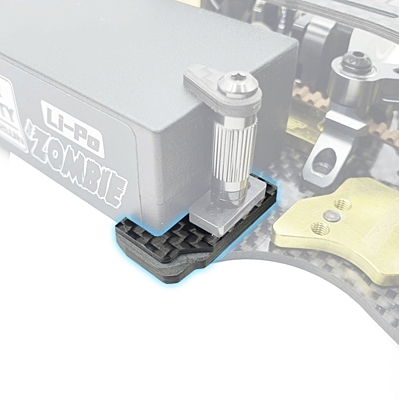 "RC Maker GeoCarbon ""SLIM"" Battery Mount Set for Awesomatix A800MMX"