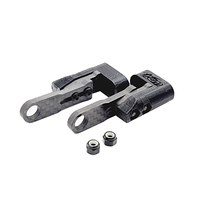 RC Maker Horizontal Rear Post Body Mounting Set for Zoo/Xtreme - Long (39-46mm)