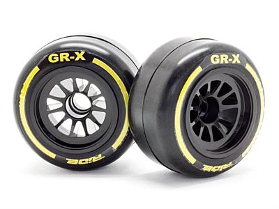 Ride F1 Front Rubber Slick Tires GR-X Compound 61mm Preglued Asphalt (2pcs)