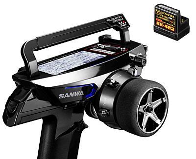 Sanwa MT-44 Piano Black Limited Edition Radio + RX-482 Receiver