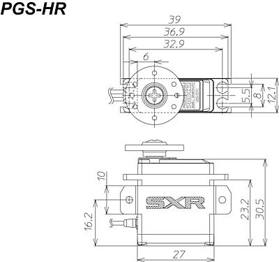 Sanwa PGS-HR Mini SXR (0.10s/5.8kg/6.0V) Coreless Servo