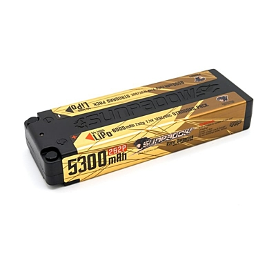 Sunpadow 5300mAh 7.4V 2S 130C/65C LiPo (4mm, 244g)