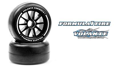 Volante F1 Front Rubber Slick Tires Medium Hard Compound Preglued (2pcs)